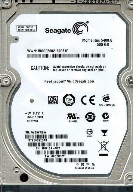 HDD SEAGATE 2.5 500GB
